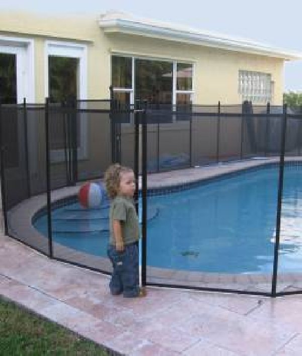 Pool safety fence net and installation royal