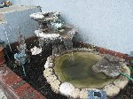 Beautiful three tear cement fountain river rock design  offer Lawn and Yard Decorations